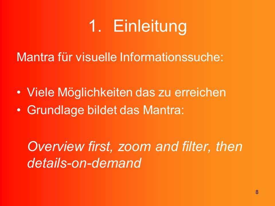 Einleitung Mantra für visuelle Informationssuche: