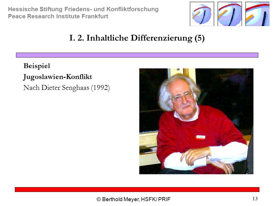 I. 2. Inhaltliche Differenzierung (5)