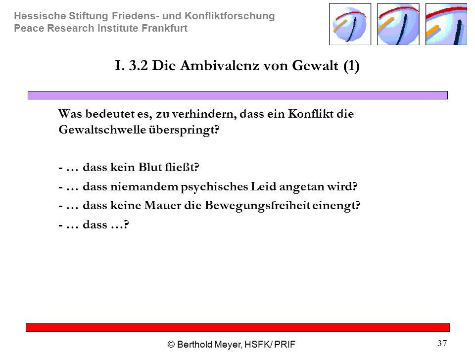I. 3.2 Die Ambivalenz von Gewalt (1)