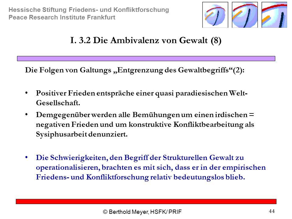 I. 3.2 Die Ambivalenz von Gewalt (8)