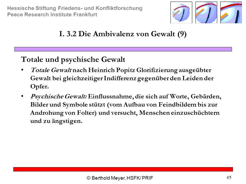 I. 3.2 Die Ambivalenz von Gewalt (9)