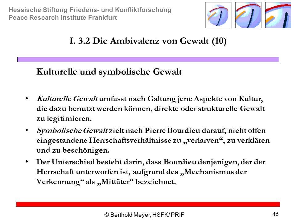 I. 3.2 Die Ambivalenz von Gewalt (10)