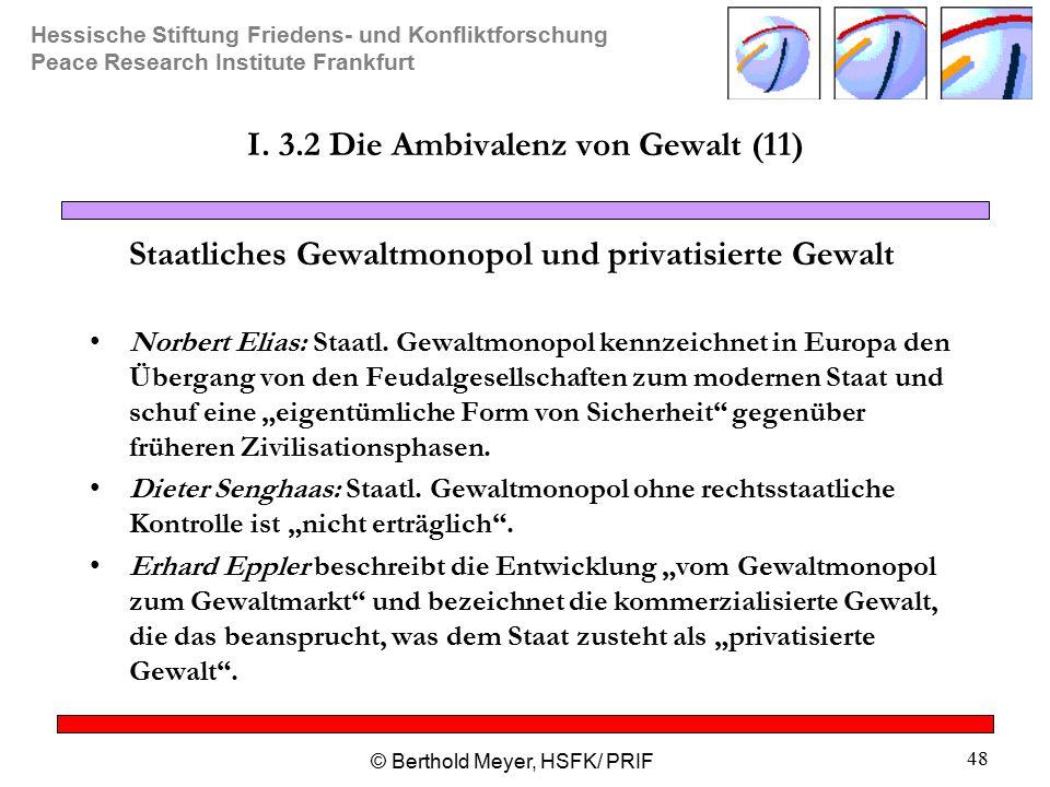 I. 3.2 Die Ambivalenz von Gewalt (11)