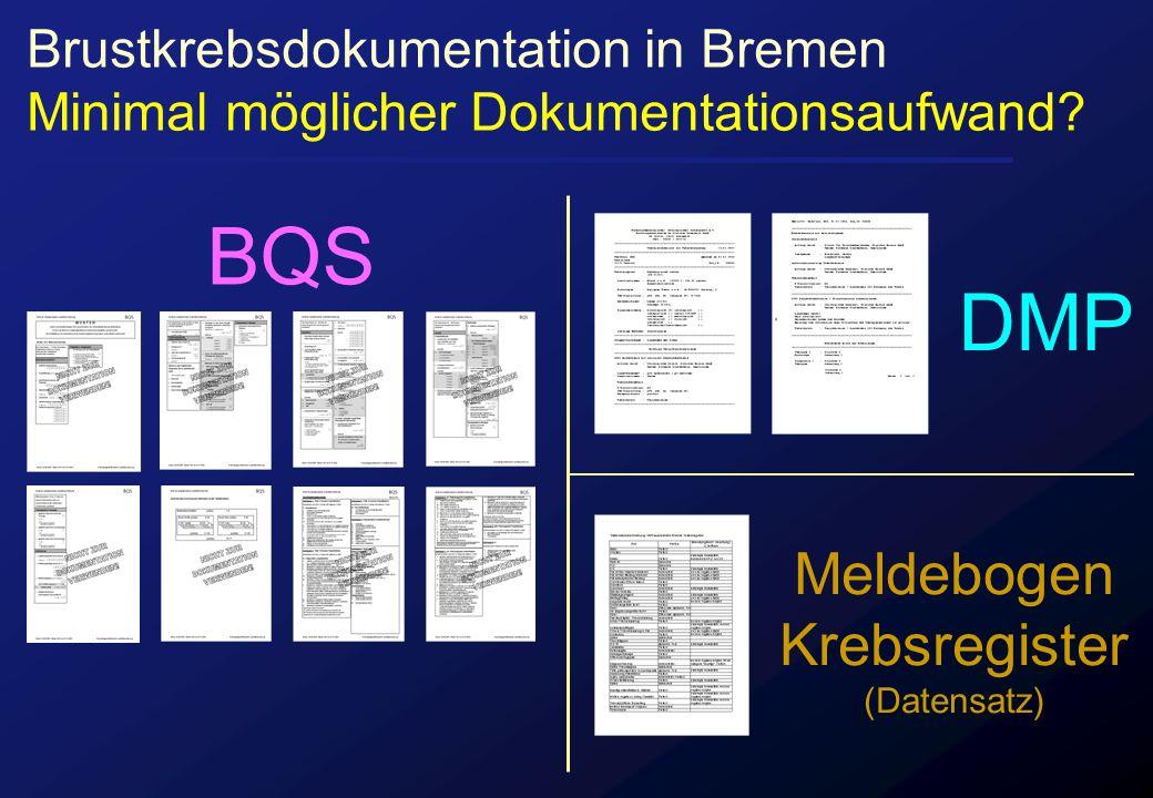 BQS DMP Meldebogen Krebsregister Brustkrebsdokumentation in Bremen