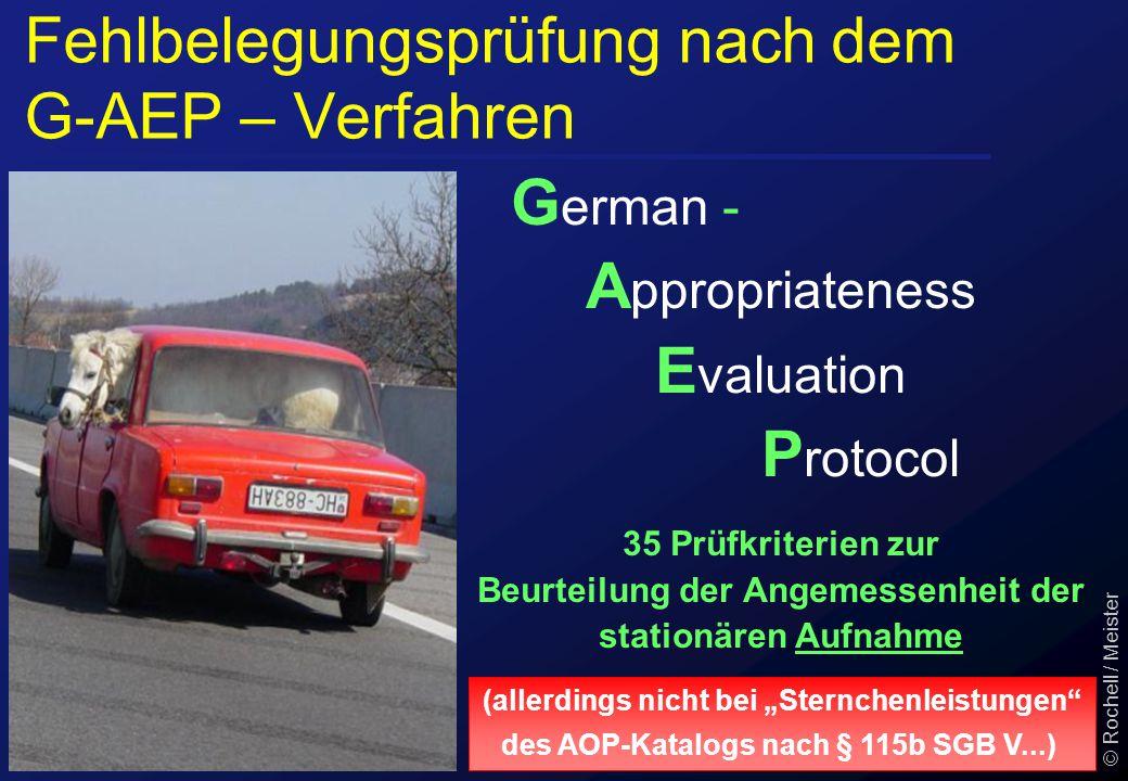 Fehlbelegungsprüfung nach dem G-AEP – Verfahren