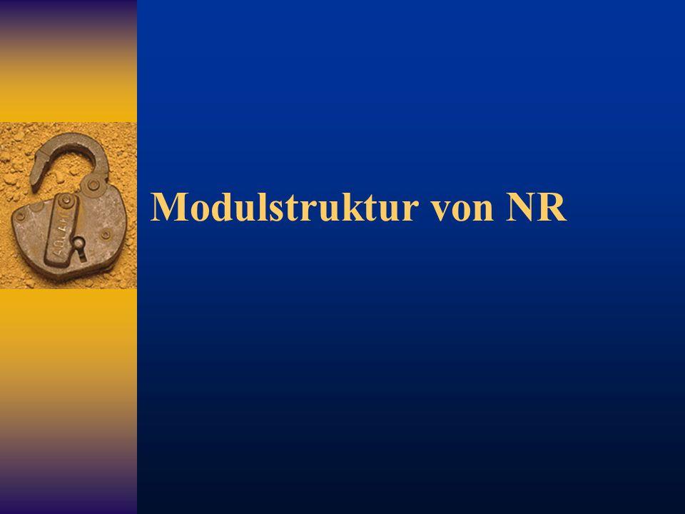 Modulstruktur von NR
