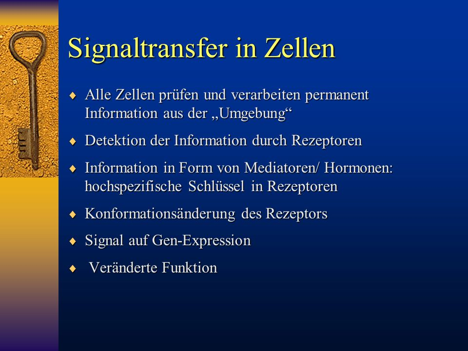 Signaltransfer in Zellen