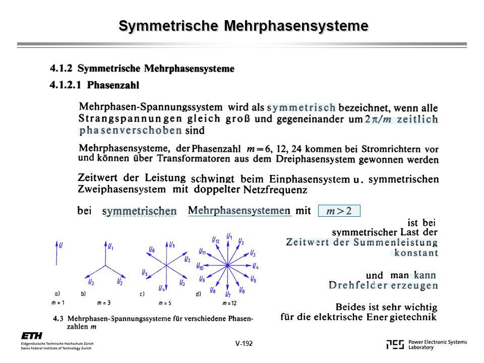 Symmetrische Mehrphasensysteme