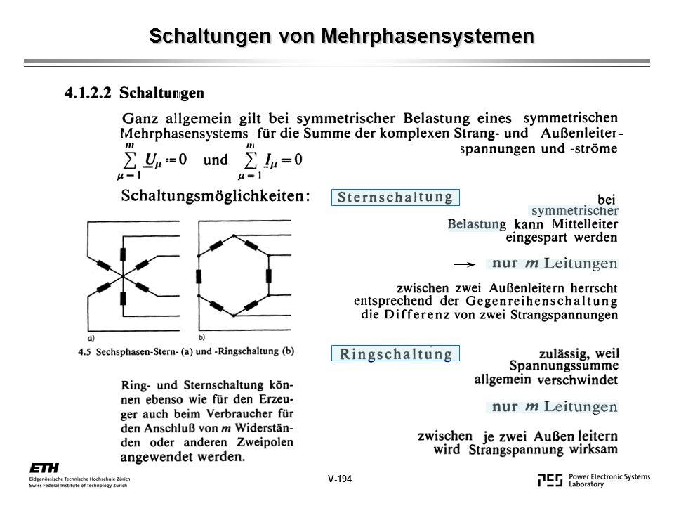 Schaltungen von Mehrphasensystemen