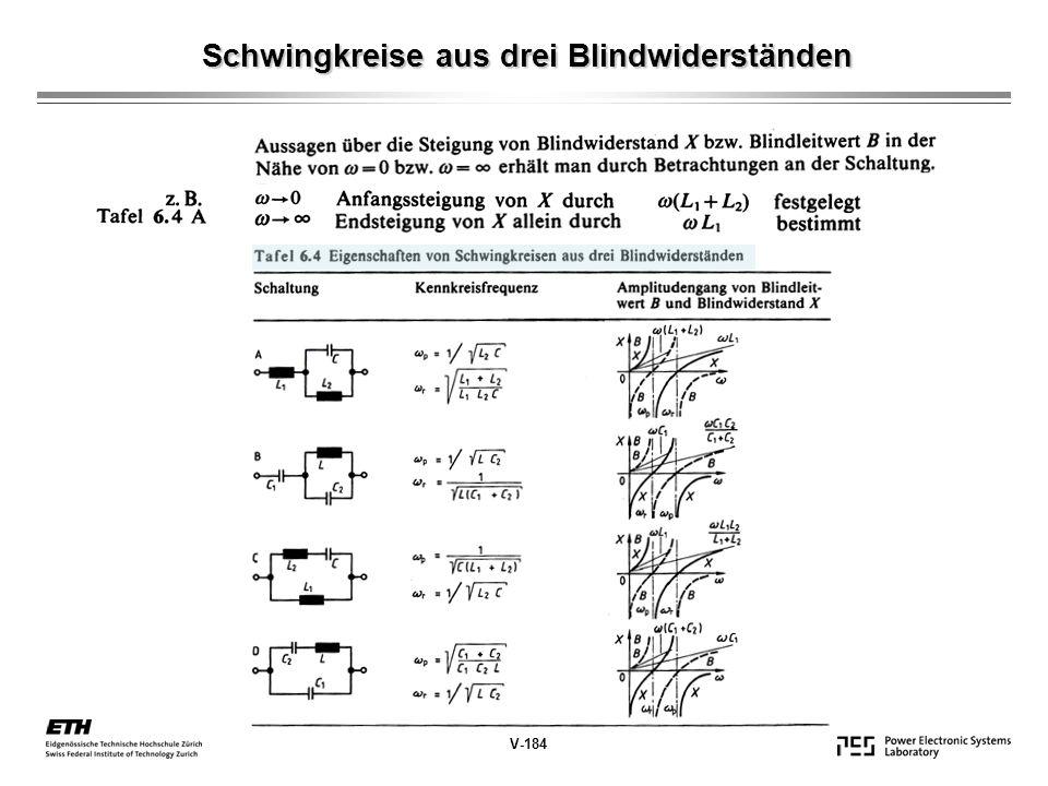 Schwingkreise aus drei Blindwiderständen