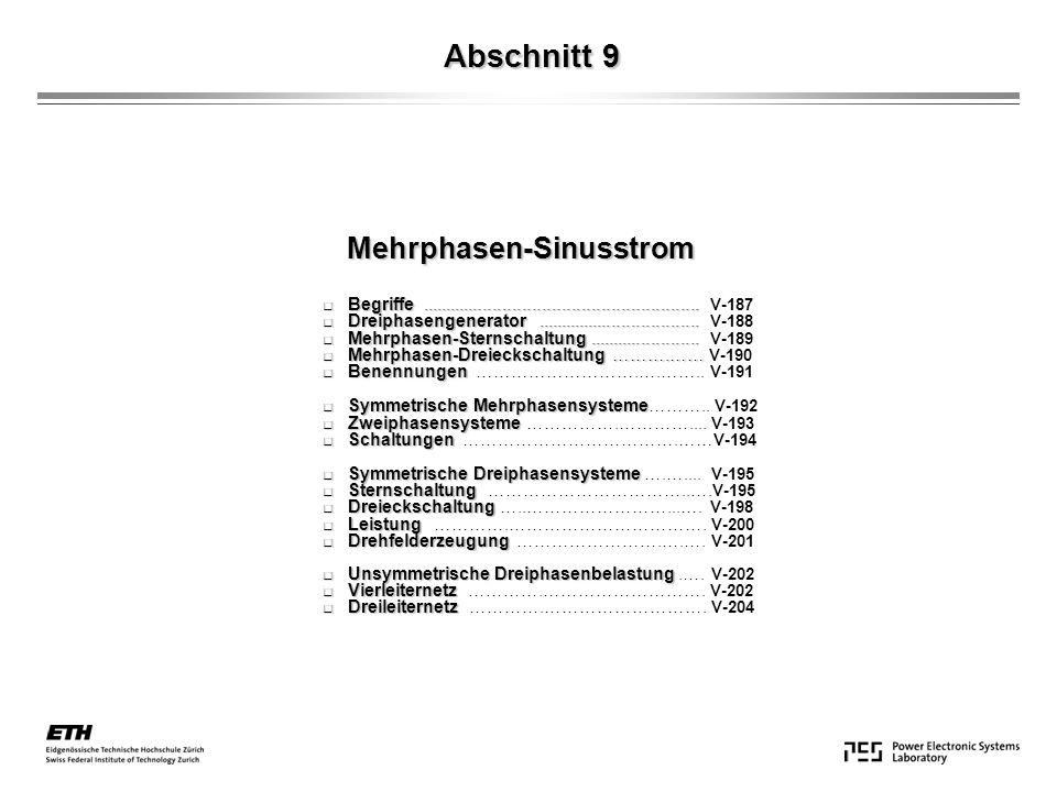 Abschnitt 9 Mehrphasen-Sinusstrom
