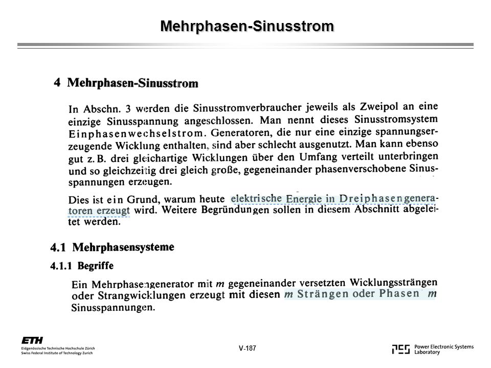 Mehrphasen-Sinusstrom