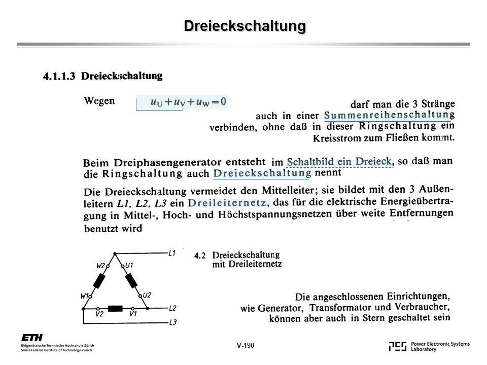 Dreieckschaltung V-190