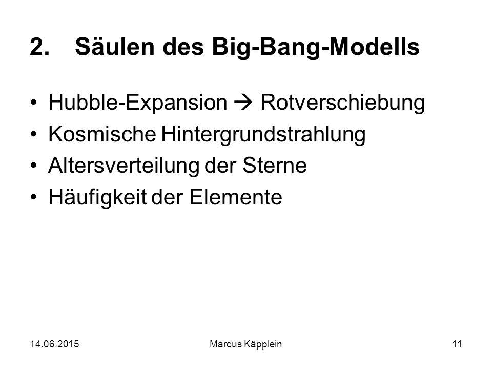 Säulen des Big-Bang-Modells