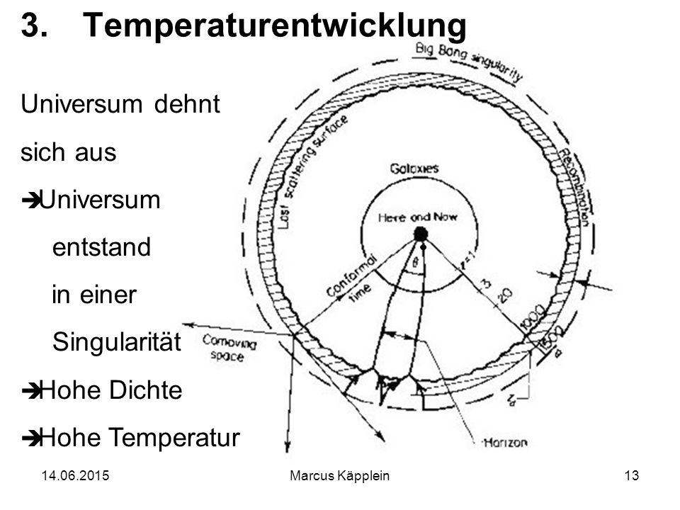 Temperaturentwicklung