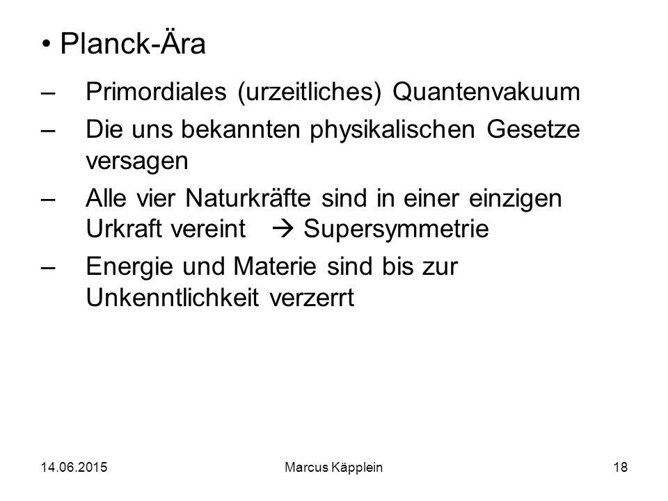 Planck-Ära Primordiales (urzeitliches) Quantenvakuum