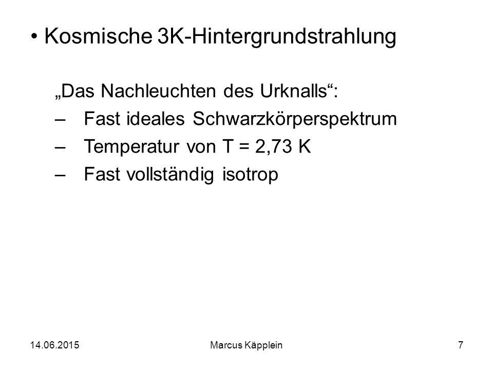 Kosmische 3K-Hintergrundstrahlung