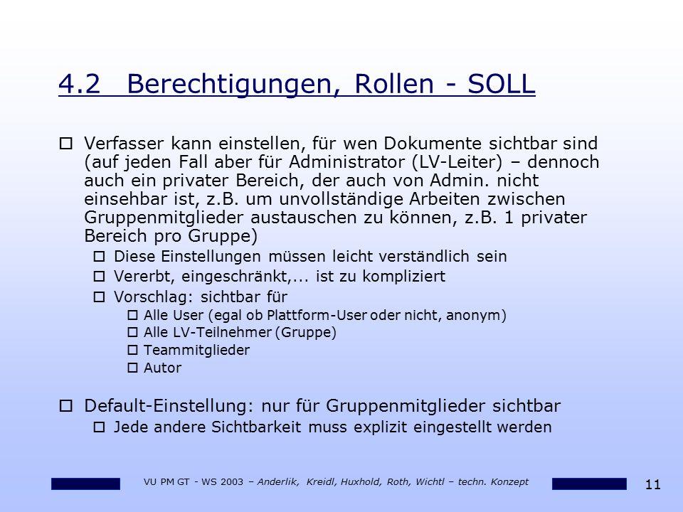 4.2 Berechtigungen, Rollen - SOLL