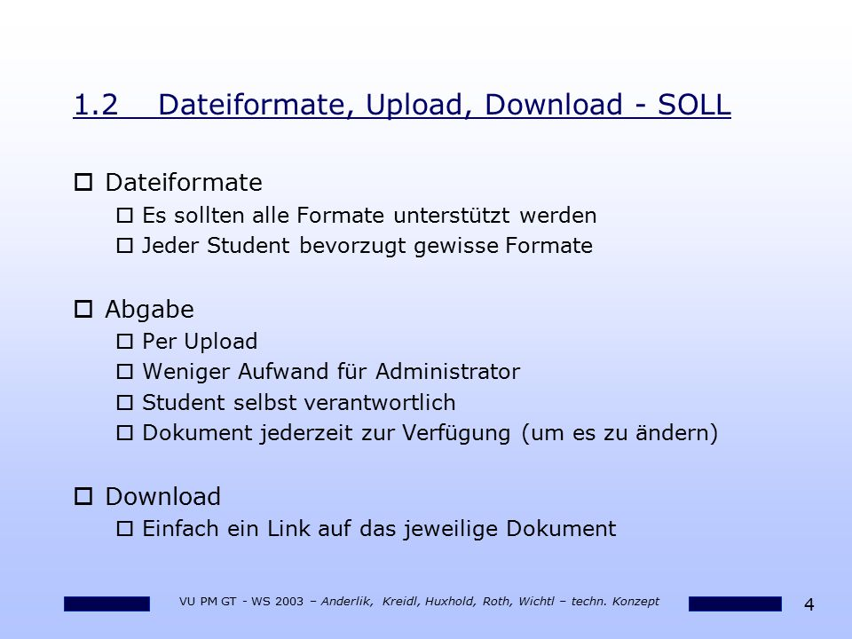 1.2 Dateiformate, Upload, Download - SOLL
