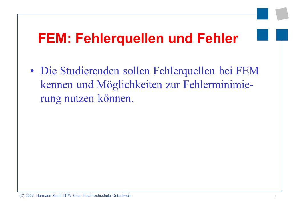 FEM: Fehlerquellen und Fehler