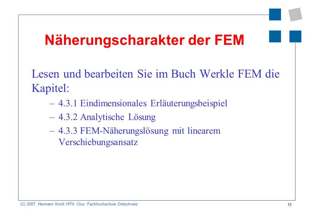 Näherungscharakter der FEM