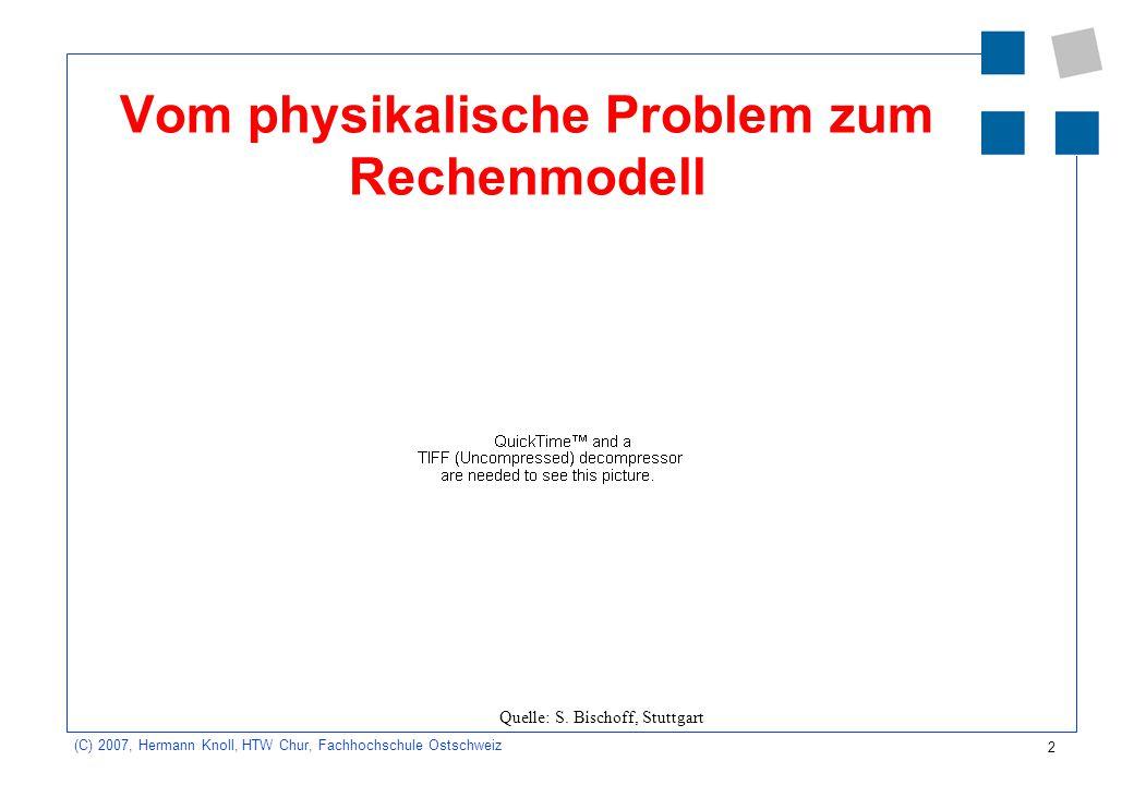 Vom physikalische Problem zum Rechenmodell