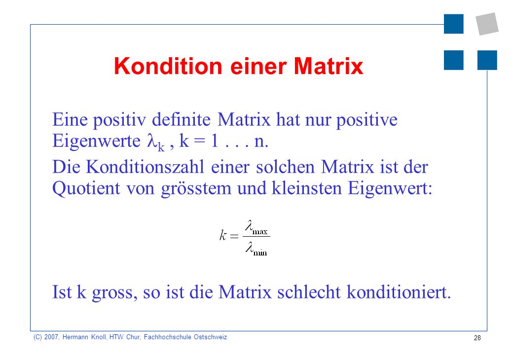 Kondition einer Matrix