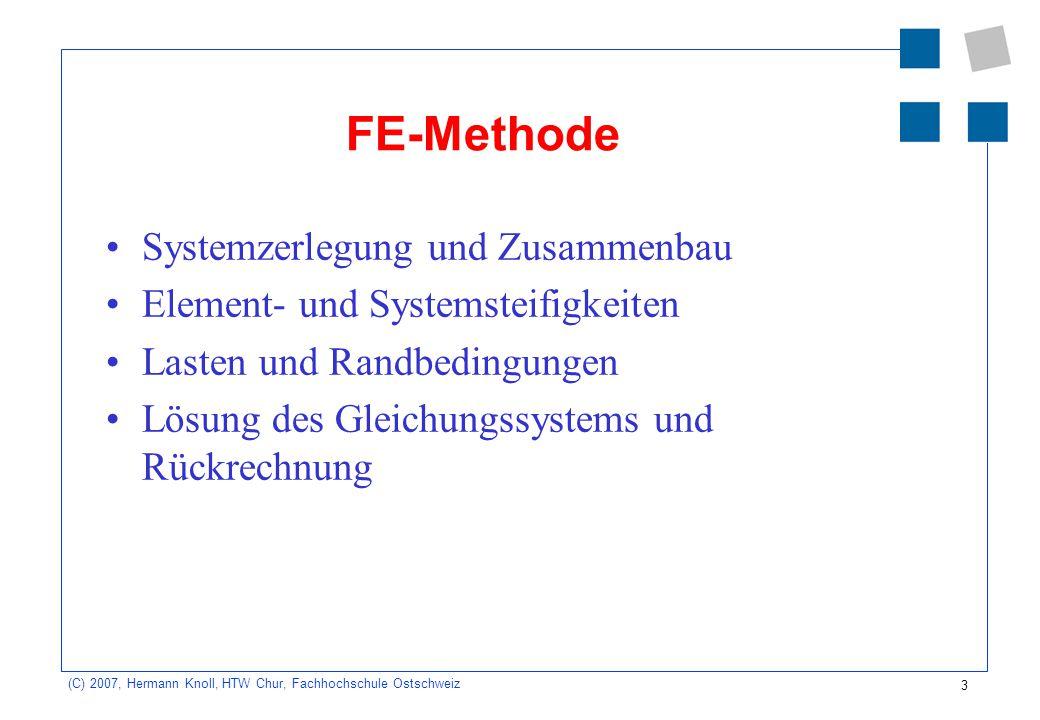 FE-Methode Systemzerlegung und Zusammenbau