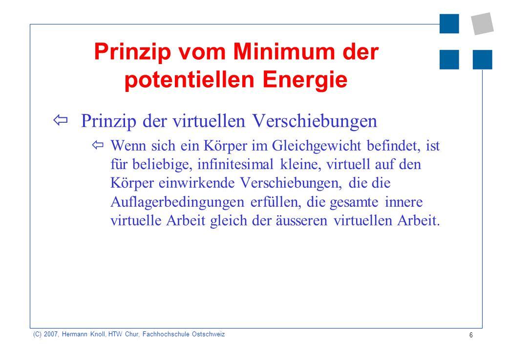 Prinzip vom Minimum der potentiellen Energie