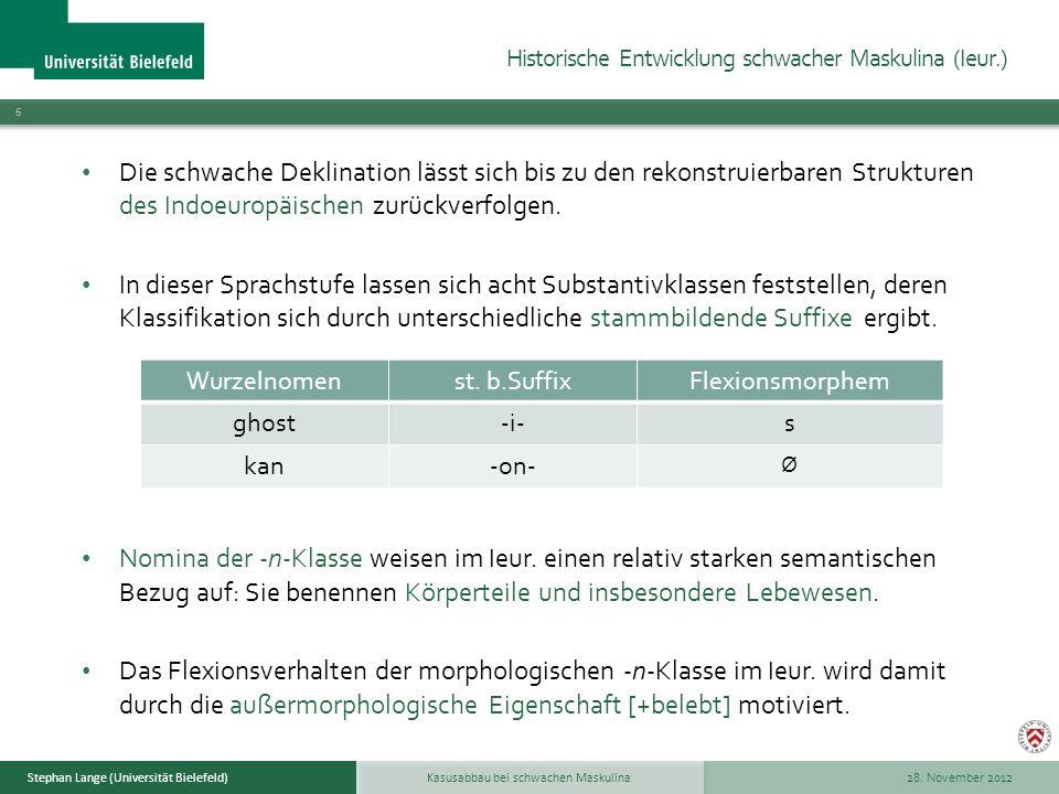 Historische Entwicklung schwacher Maskulina (Ieur.)