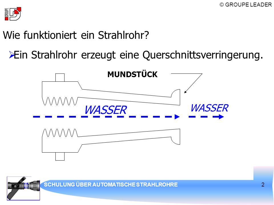 WASSER Wie funktioniert ein Strahlrohr