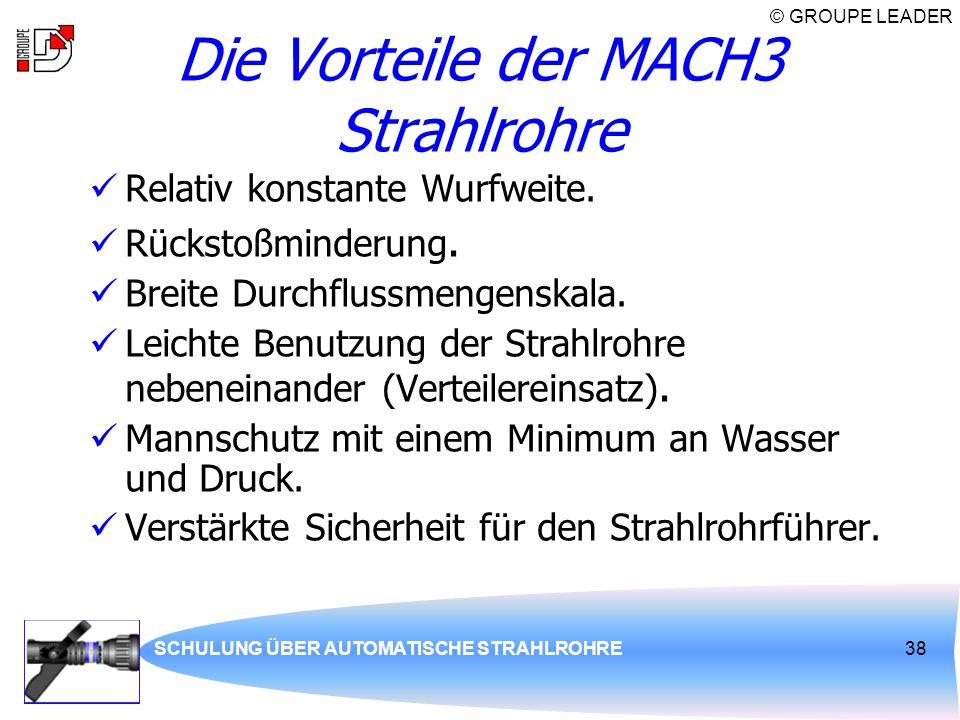 Die Vorteile der MACH3 Strahlrohre