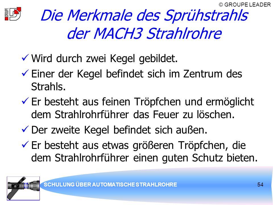 Die Merkmale des Sprühstrahls der MACH3 Strahlrohre
