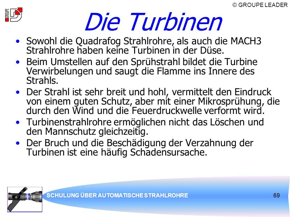 Die Turbinen Sowohl die Quadrafog Strahlrohre, als auch die MACH3 Strahlrohre haben keine Turbinen in der Düse.