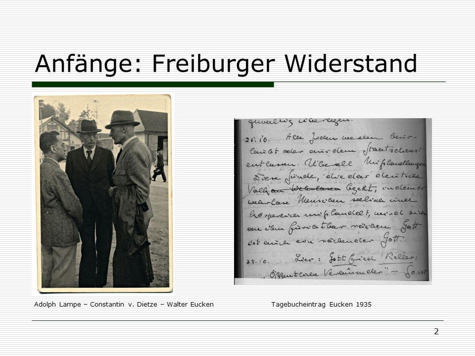 Anfänge: Freiburger Widerstand