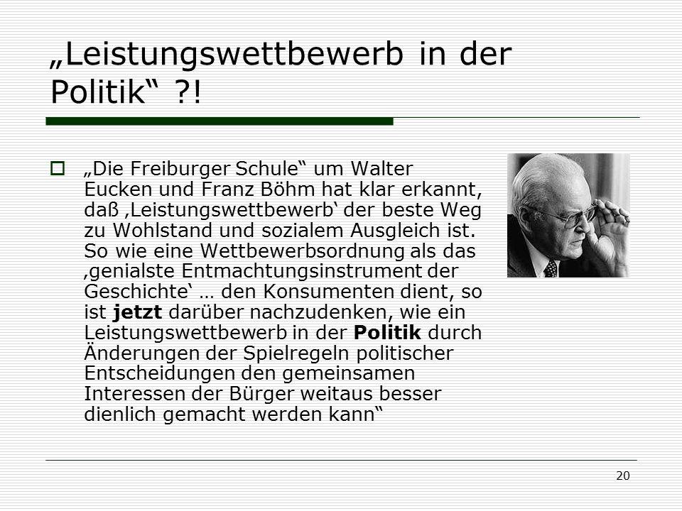 """""""Leistungswettbewerb in der Politik !"""