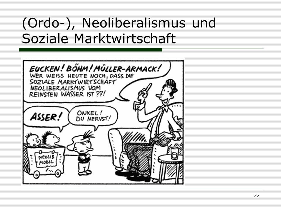 (Ordo-), Neoliberalismus und Soziale Marktwirtschaft