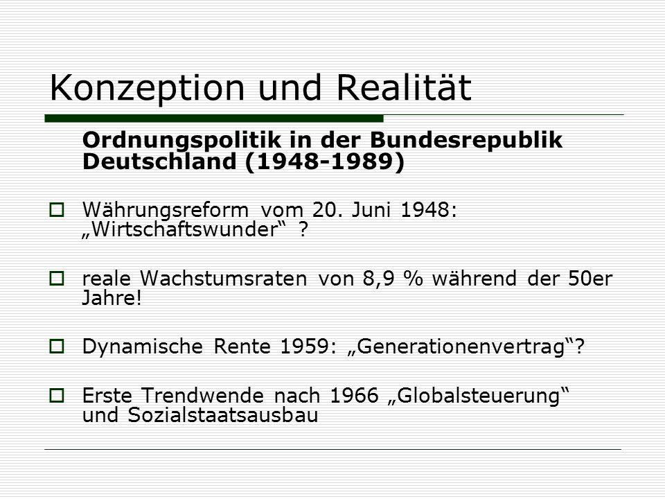 Konzeption und Realität