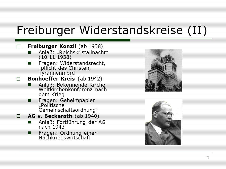 Freiburger Widerstandskreise (II)
