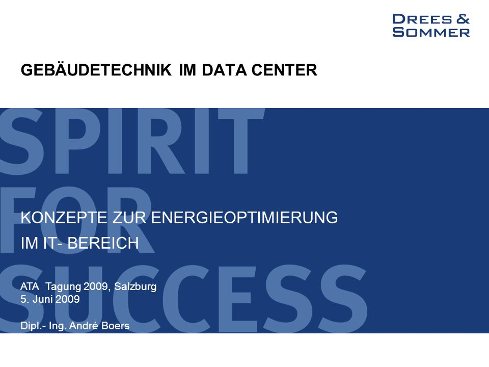 GEBÄUDETECHNIK IM DATA CENTER
