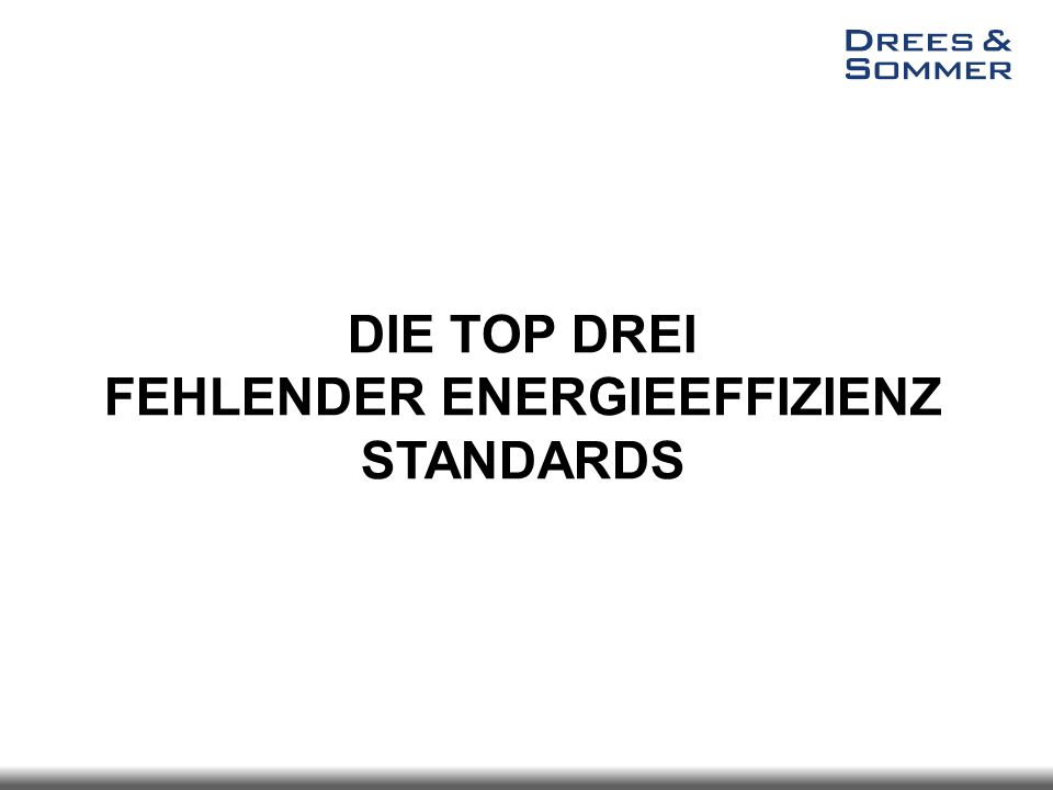 FEHLENDER ENERGIEEFFIZIENZ