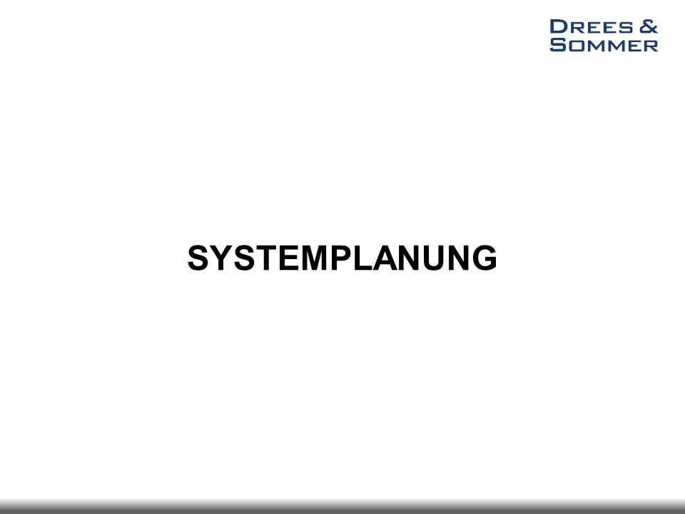 SYSTEMPLANUNG
