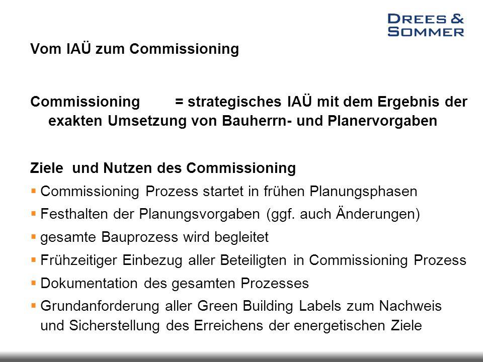 Vom IAÜ zum Commissioning