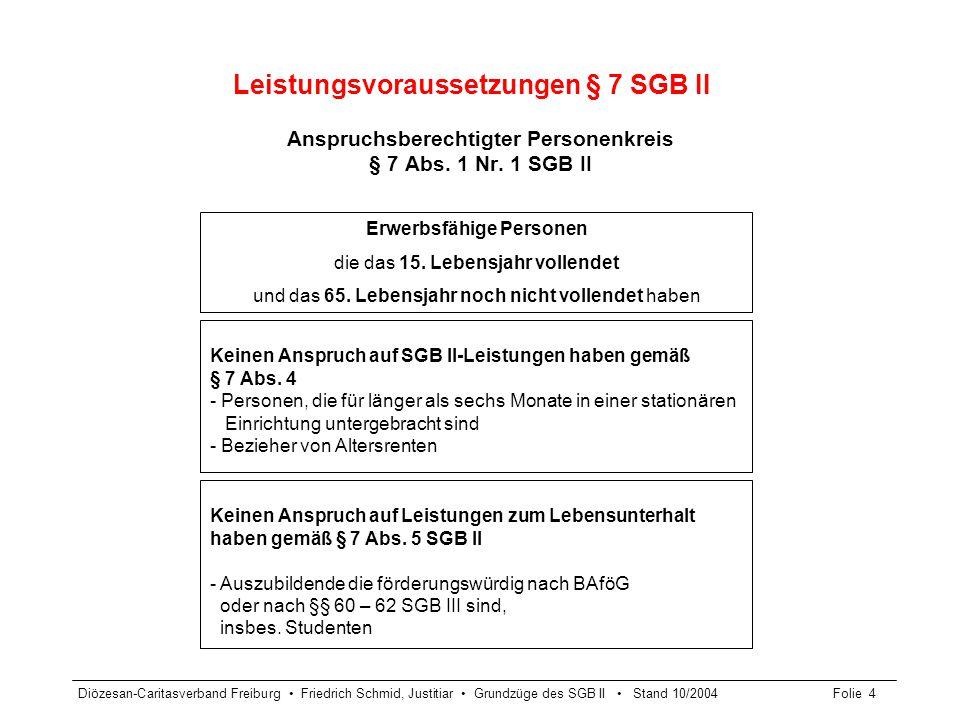 Leistungsvoraussetzungen § 7 SGB II