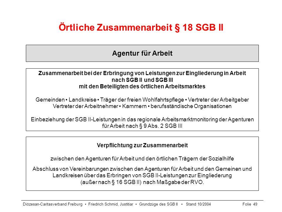 Örtliche Zusammenarbeit § 18 SGB II