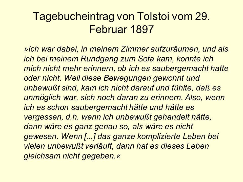Tagebucheintrag von Tolstoi vom 29. Februar 1897