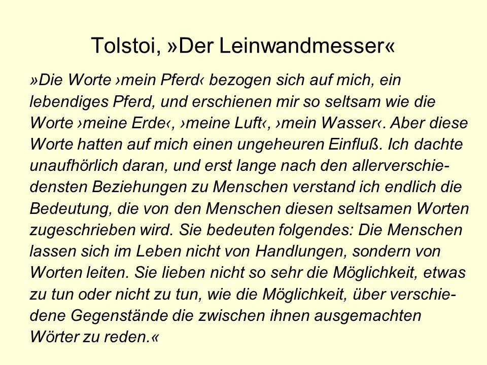 Tolstoi, »Der Leinwandmesser«