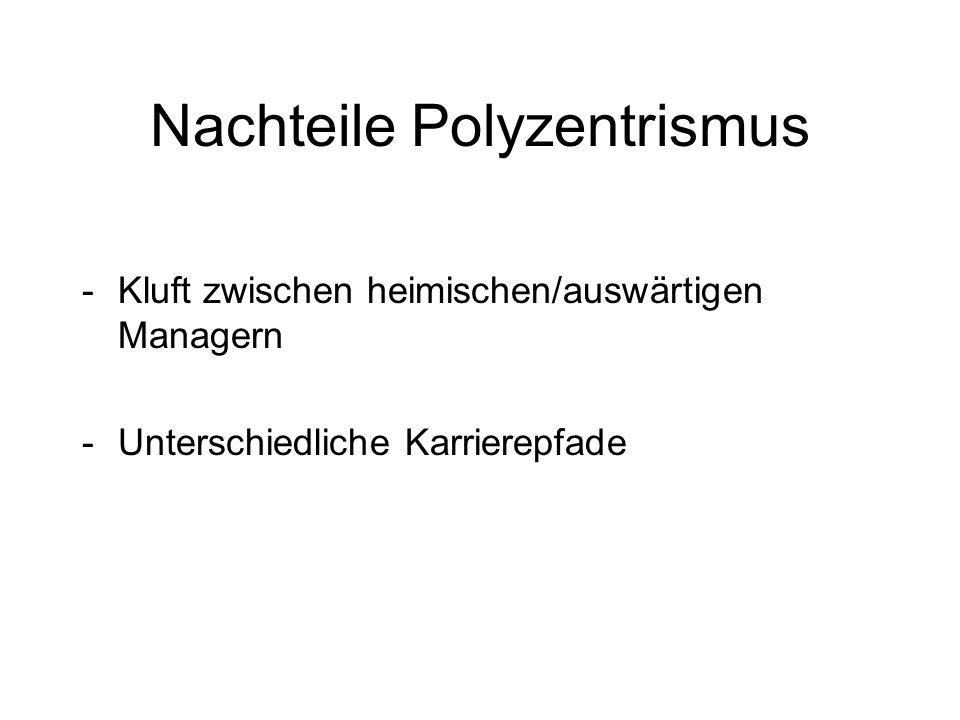 Nachteile Polyzentrismus