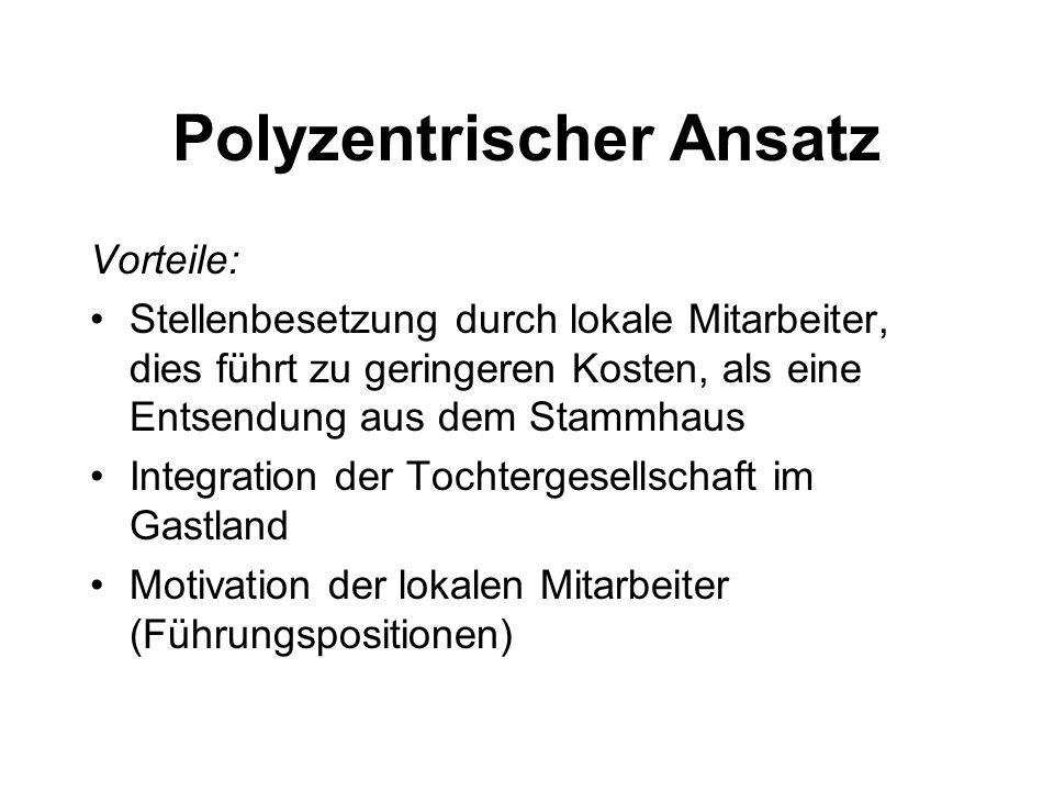 Polyzentrischer Ansatz