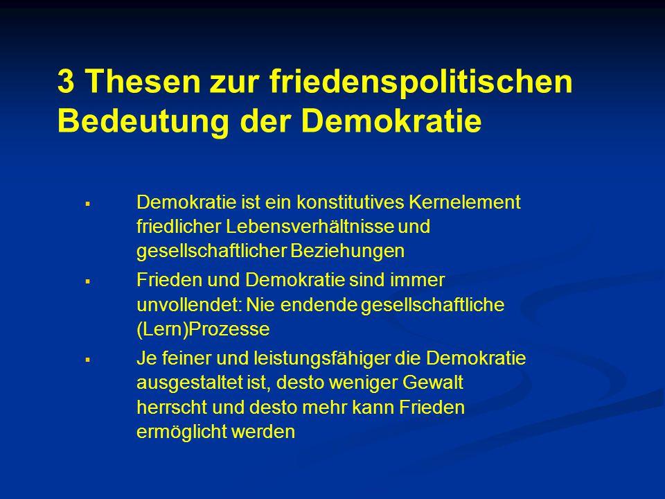 3 Thesen zur friedenspolitischen Bedeutung der Demokratie